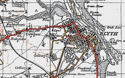 Old map of Blyth in 1947
