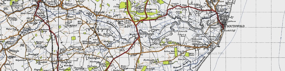 Old map of Westwood Lodge in 1946