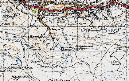 Old map of Boarsgreave in 1947