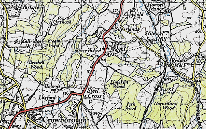 Old map of Aldwick Grange in 1940