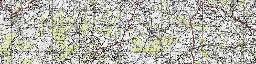 Old map of Aldwick Grange in 1940