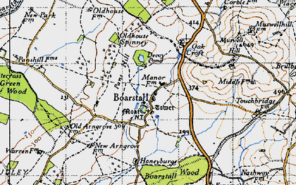 Old map of Whitecross Green Wood in 1946