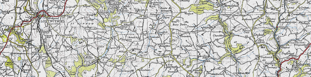 Old map of Winnick in 1946