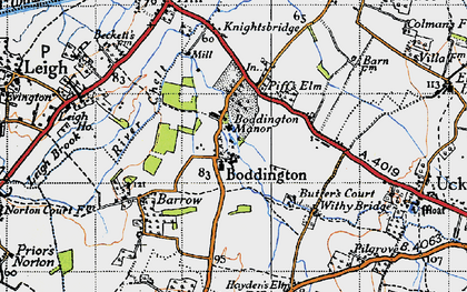 Old map of Boddington in 1946