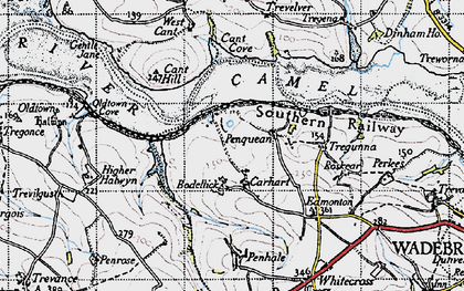 Old map of Bodellick in 1946