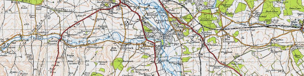 Old map of Bodenham in 1940