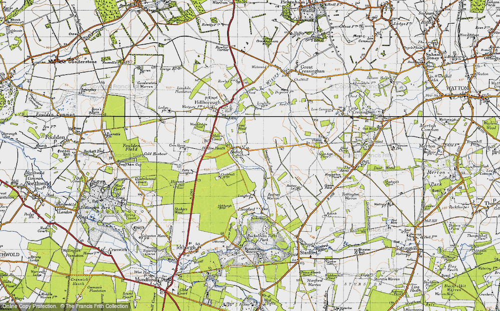 Old Map of Historic Map covering Langford in 1946