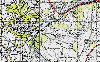 Old map of Bofarnel in 1946