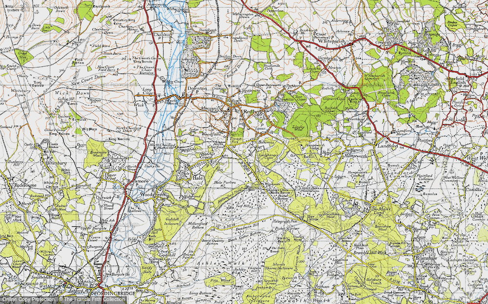 Old Map of Historic Map covering Tinney's Firs in 1940
