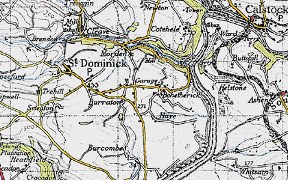 Old map of Bohetherick in 1946