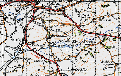 Old map of Bolahaul Fm in 1946