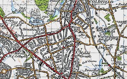 Old map of Wyndley Pool in 1946