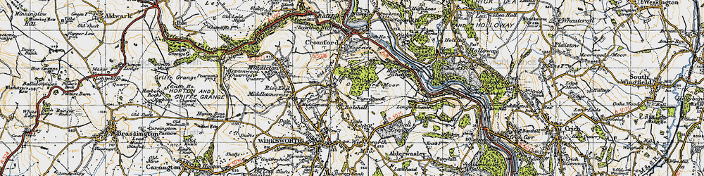 Old map of Wigwellnook in 1947