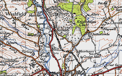Old map of Worth Ho in 1946