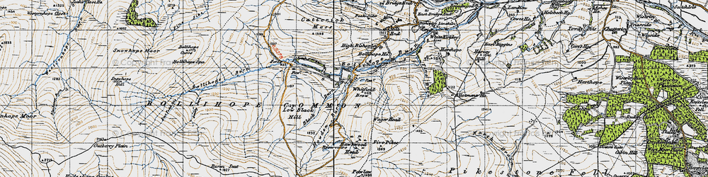 Old map of Whitfield Brow in 1947