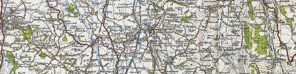 Old map of White Nancy in 1947