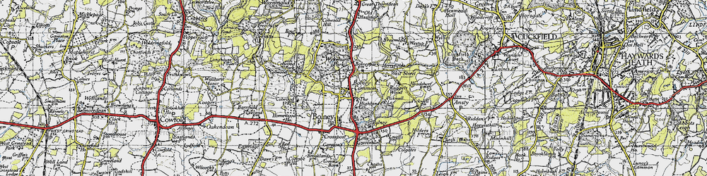 Old map of Wykehurst Park in 1940