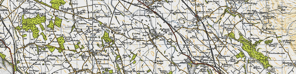 Old map of Westley Bank Cotts in 1947