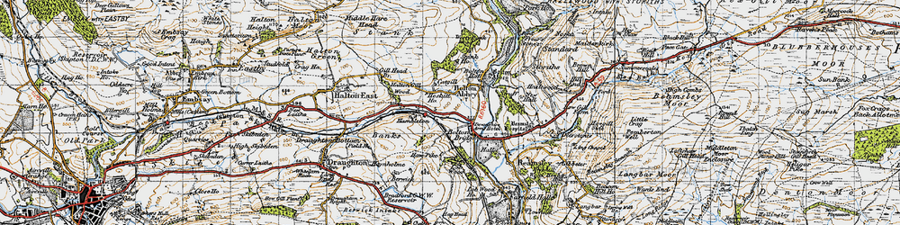 Old map of Westy Bank Wood in 1947