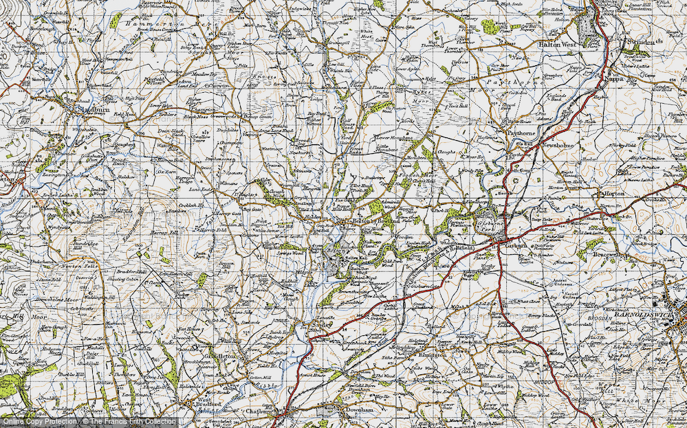 Old Map of Historic Map covering Admiral's Wood in 1947