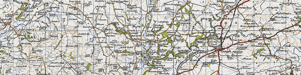Old map of Admiral's Wood in 1947