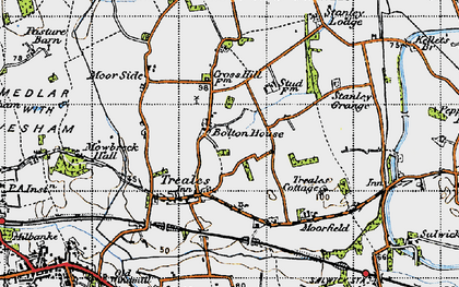 Old map of Bolton Houses in 1947