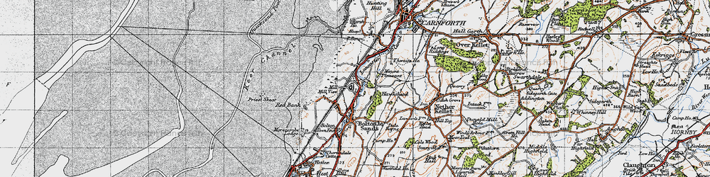 Old map of Wild Duck Hall in 1947