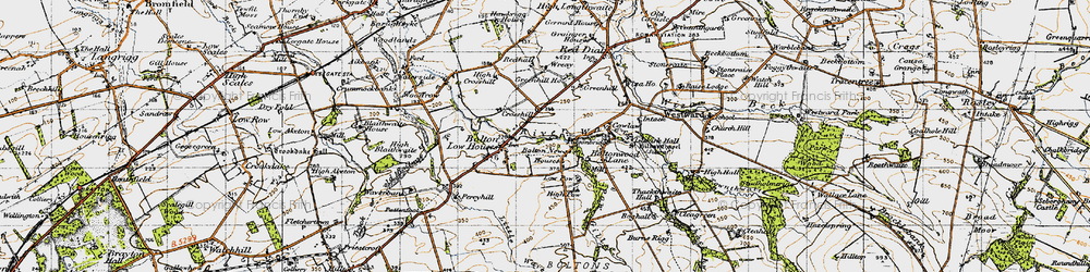 Old map of Wreay, The in 1947