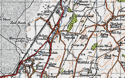 Old map of Bolton Town End in 1947
