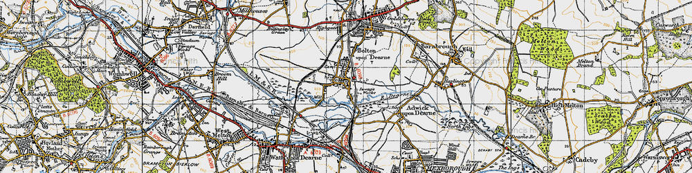 Old map of Bolton Upon Dearne in 1947