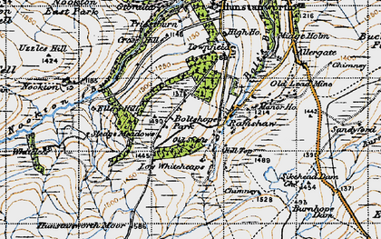 Old map of Whitelees in 1947