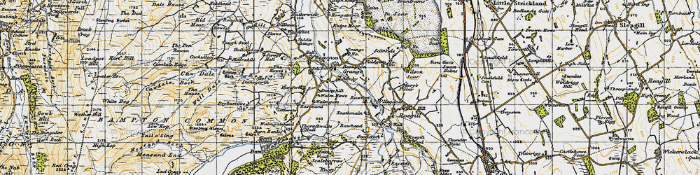 Old map of Toathmain in 1947