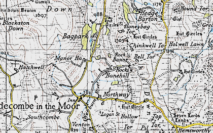 Old map of Bagpark in 1946