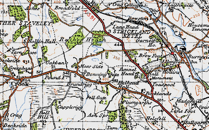 Old map of Tolson Hall in 1947