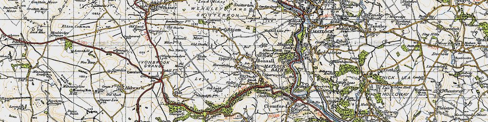 Old map of Bonsall in 1947