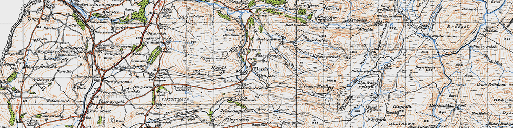 Old map of Alltgochymynydd in 1947