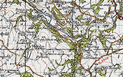 Old map of Graig in 1947
