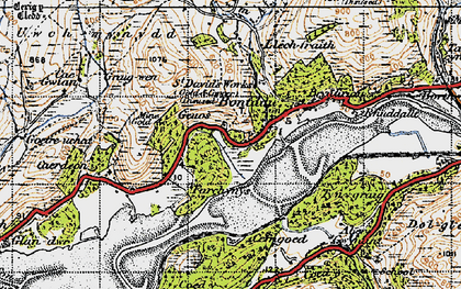 Old map of Abergwynant in 1947