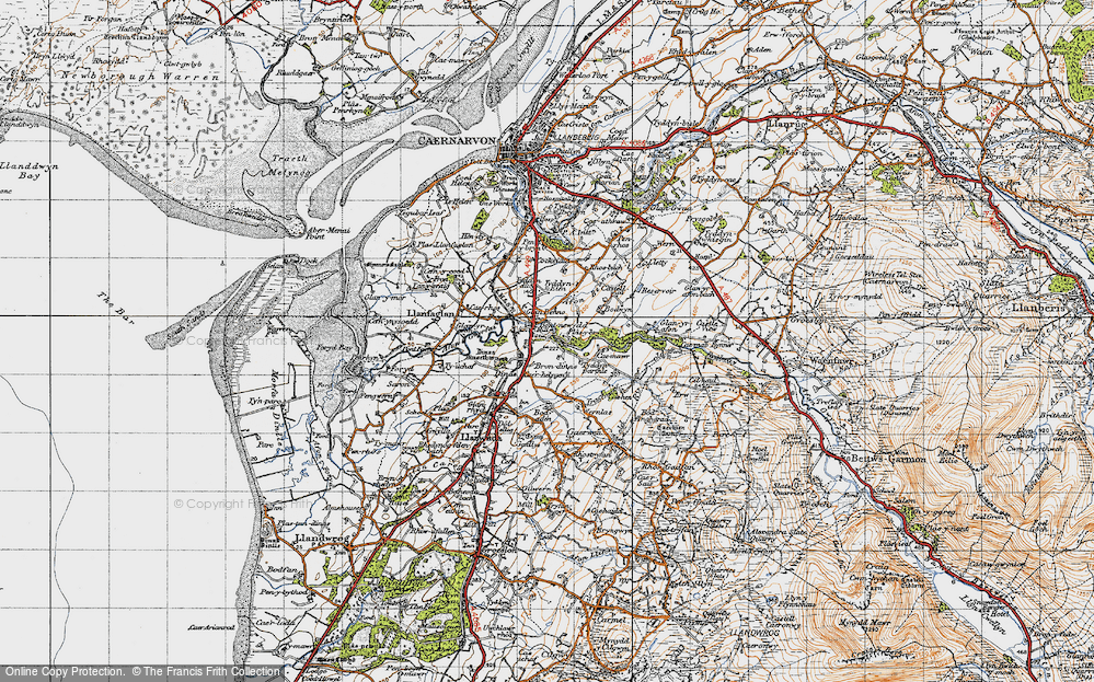 Old Map of Bontnewydd, 1947 in 1947