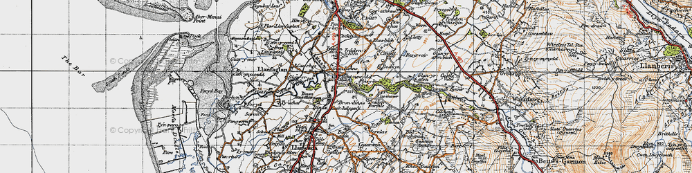 Old map of Bontnewydd in 1947