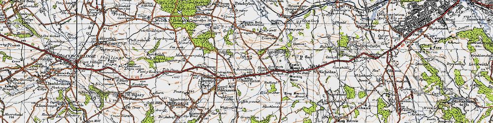 Old map of Bonvilston in 1947