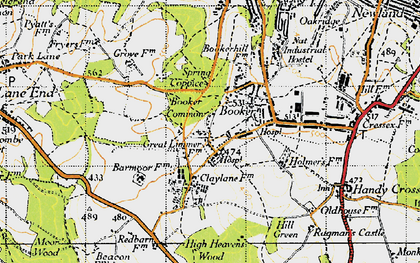 Old map of Wycombe Air Park in 1947