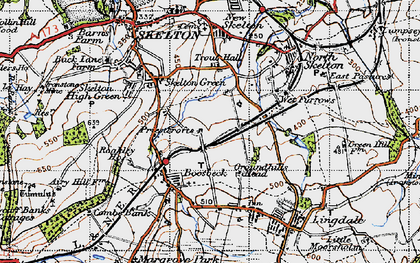 Old map of Boosbeck in 1947