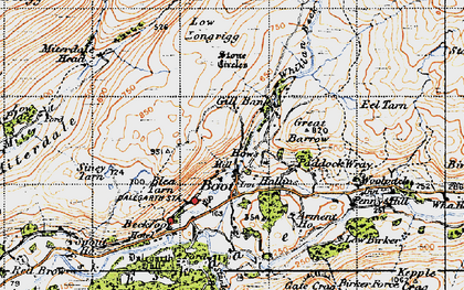 Old map of Whincop in 1947