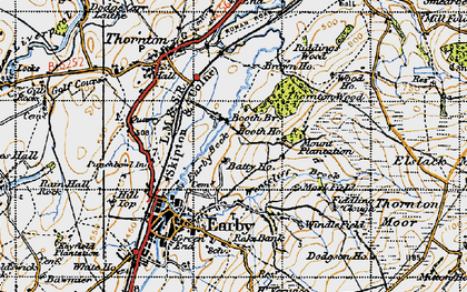 Old map of Windle Field in 1947