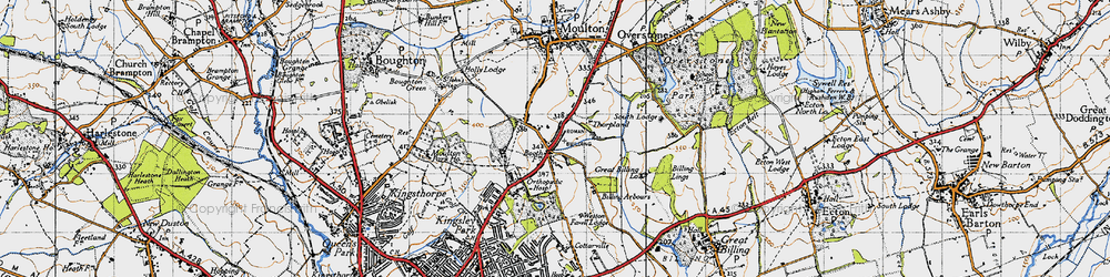 Old map of Boothville in 1946