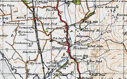 Old map of Barfield in 1947