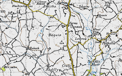 Old map of Boquio in 1946