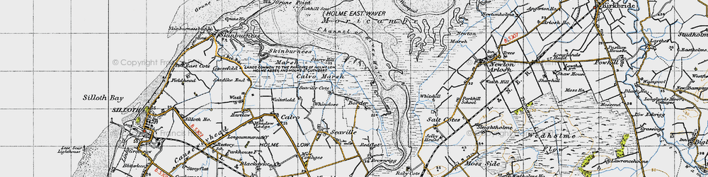 Old map of Whinclose in 1947