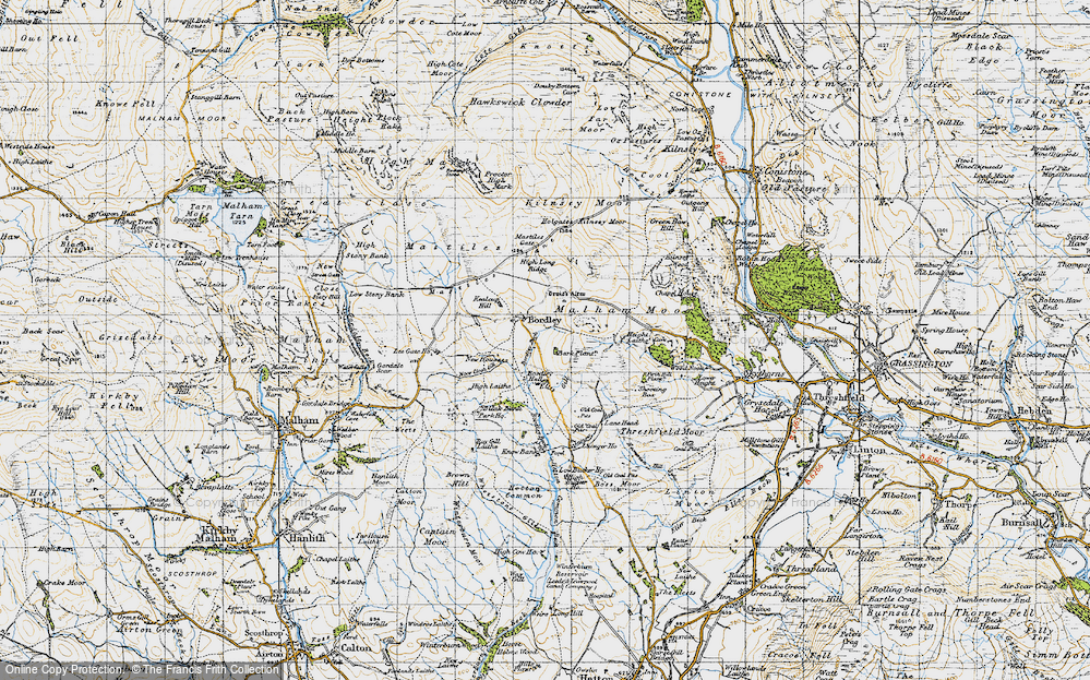 Old Map of Historic Map covering Bark Plantn in 1947
